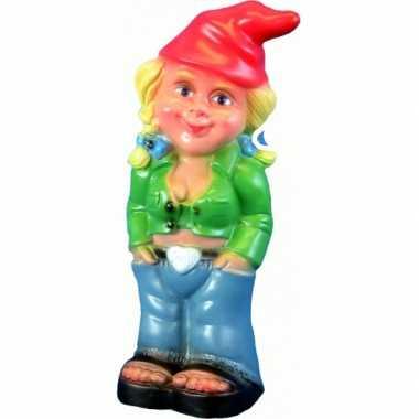Kunststof tuinkabouter sexy vrouw 33 cm