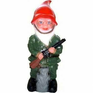 Kunststof tuinkabouter soldaat uniform