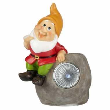 Solar tuinkabouter lamp david 13,5 cm