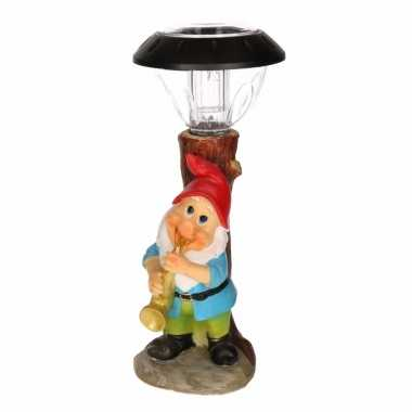 Solarlamp tuinkabouter met saxofoon